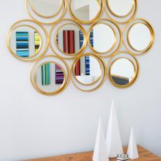 Circle Mirrors and Cone Sculptures