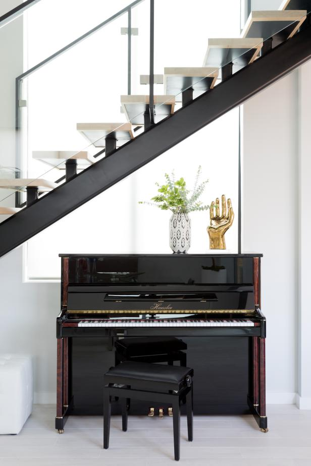 Modern Stairs and Piano