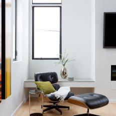 Modern Sitting Area With Black Recliner