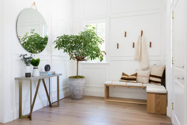 Neutral Foyer With Tree