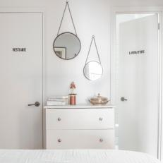 White Small Bedroom with Stencils