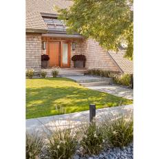 Front Entry and Walkway With Grasses