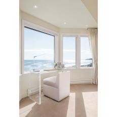 Lucite Desk and Ocean View