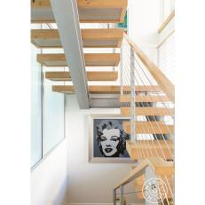 Modern Stairs With Marilyn Monroe Art