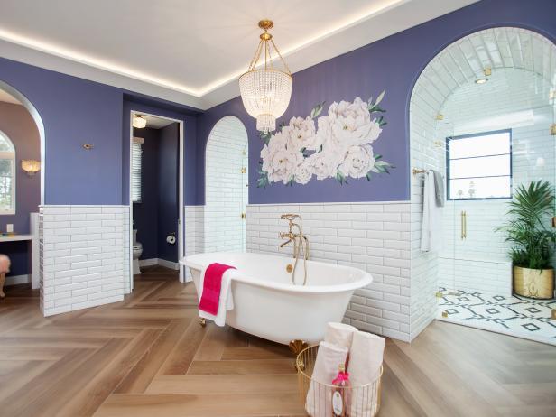 Purple Bathroom Decor Pictures Ideas Tips From Hgtv: Purple Bathroom Photos