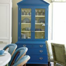 Blue China Cabinet