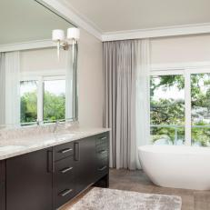 Master Bathroom With Water View