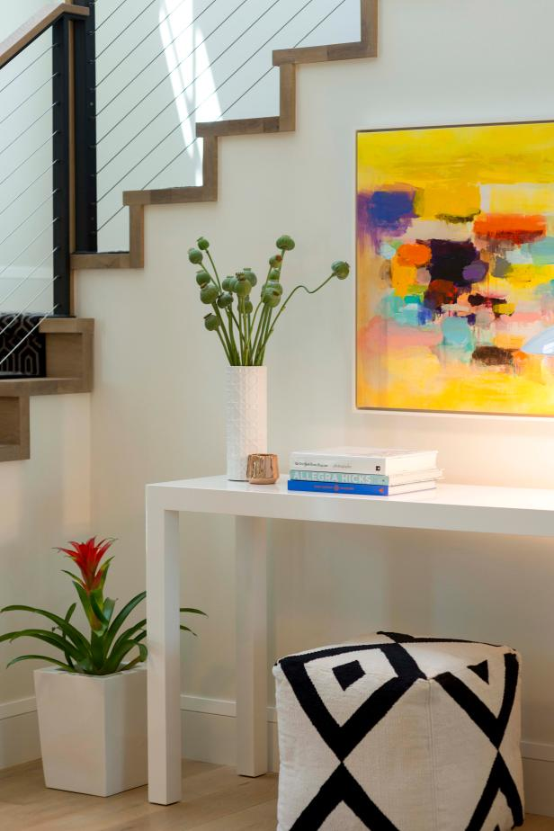Multicolored Foyer With Yellow Art