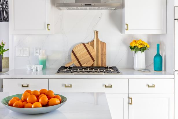 White Kitchen With Cutting Boards