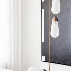 Modern Living Room Pendant Light Detail