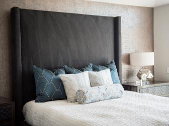 Custom Headboard and Pillows