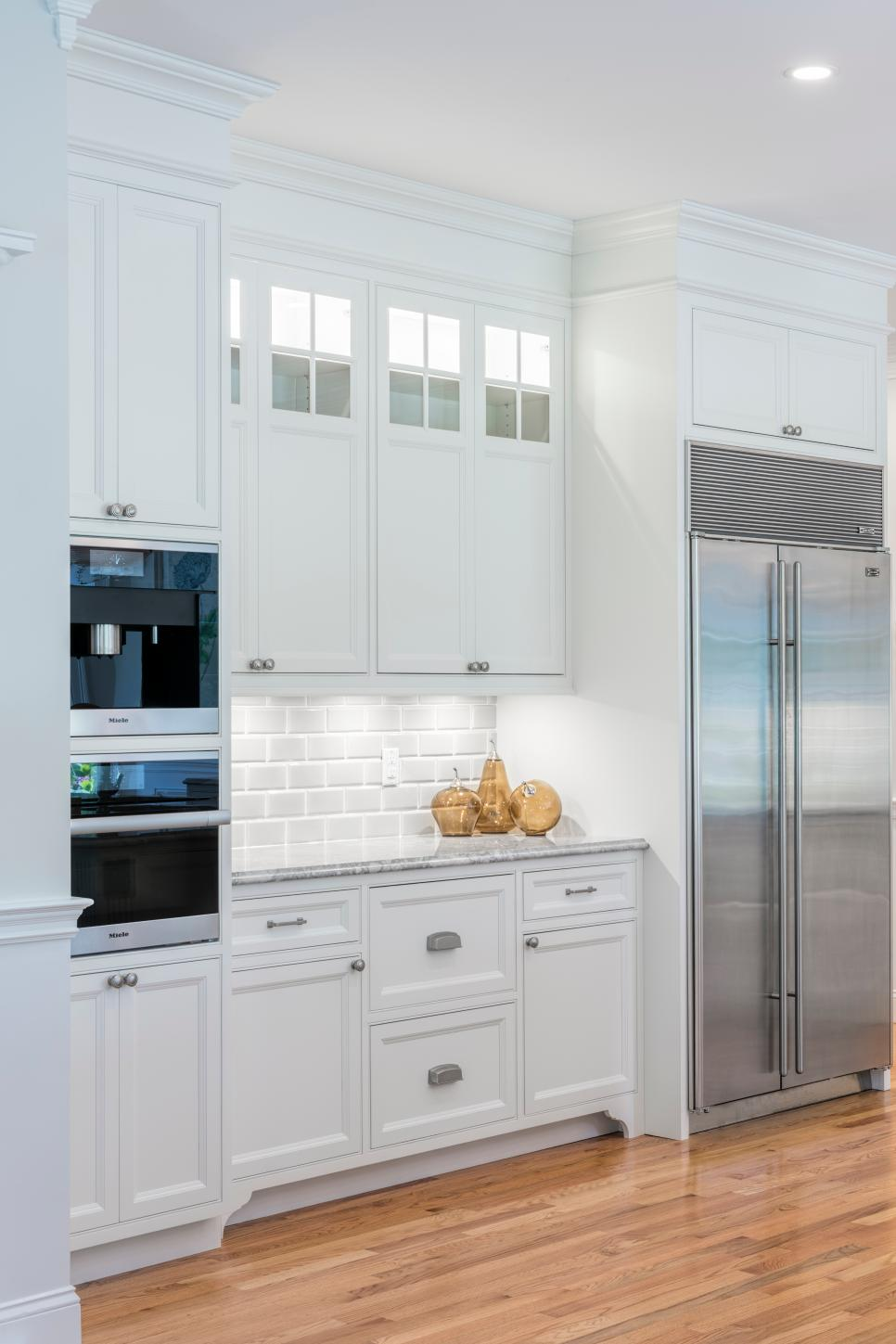 White Kitchen With Double Oven