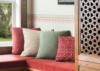 Window Seat in Moroccan-Inspired Bedroom | HGTV