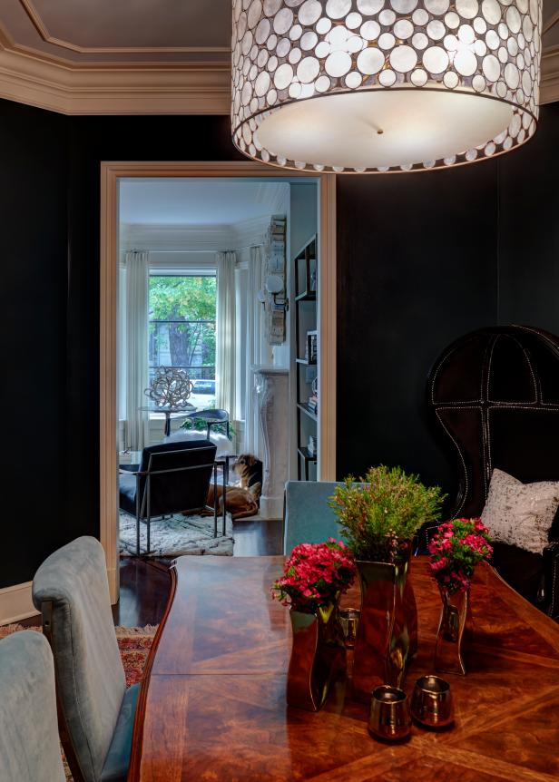 Eclectic Black Dining Room