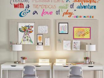 Multicolored Playroom With Quote