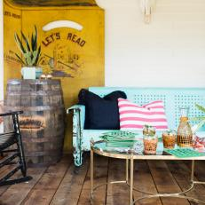 Rustic-Industrial Style Creates Welcoming Porch