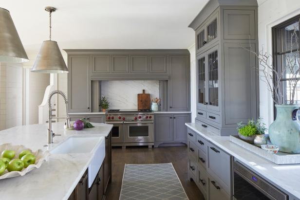 Gray Transitional Kitchen