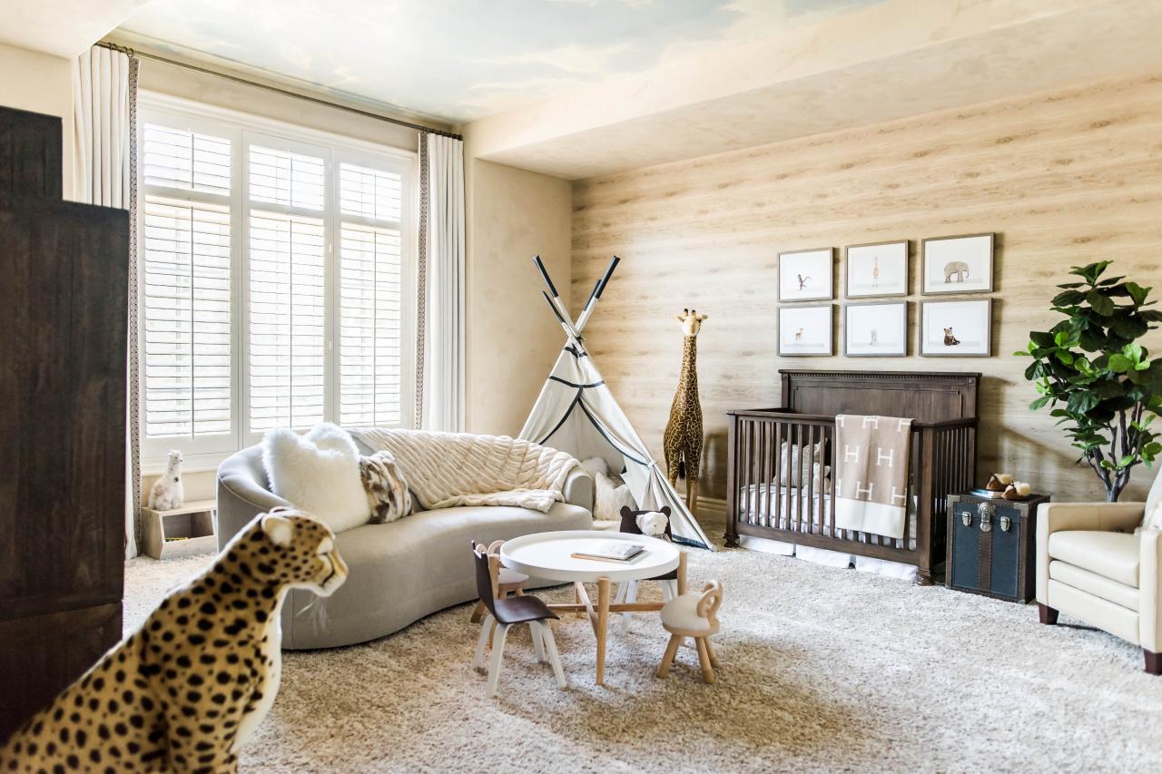 Safari Chic Nursery | Stephanie Avila | HGTV