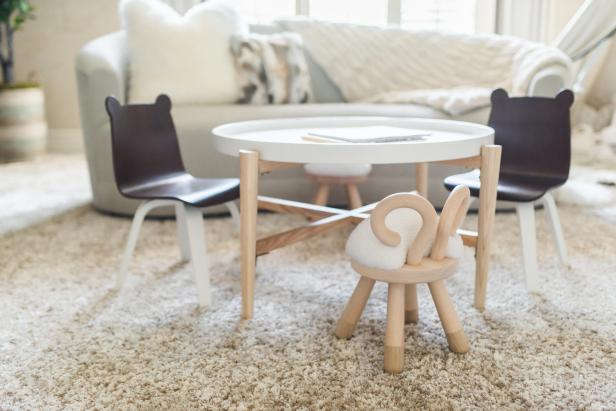 Kid Table and Animal Chairs