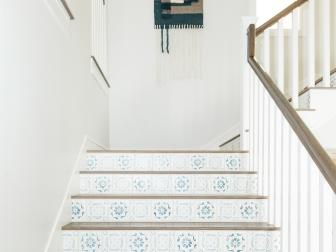 Moroccan Tile Decorates Traditional Staircase