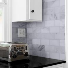 Black Kitchen Countertop and Toaster