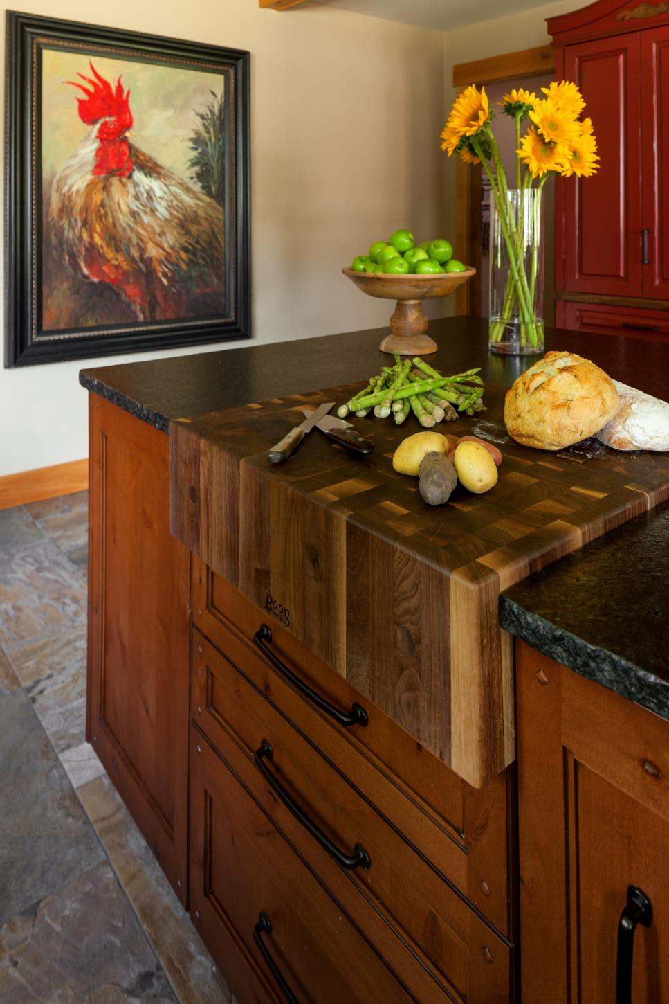 Kitchen Countertop and Rooster Art