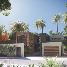 Modern Home With Stone Wall Brings Order to Palmetto Bay, Fla.
