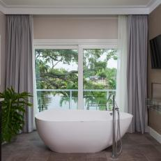 Master Bathroom With Canal View