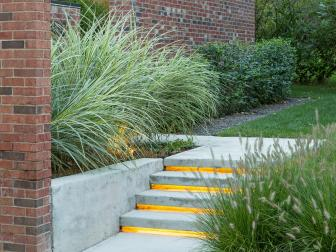 Concrete Steps With Lighting