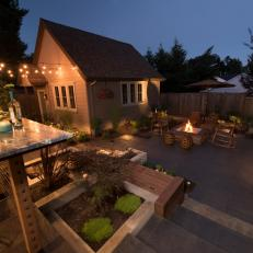 Balcony Overlooking Patio and Fire Pit