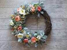 Celebrate warmer weather with a bloom-tastic wreath for your front door.