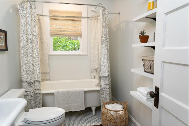 30 small bathroom before and afters hgtv - Small full bathroom remodel ideas ...