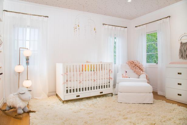 Contemporary Nursery With Pink Throw