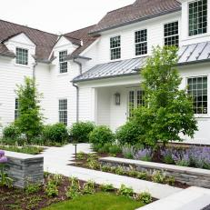 A Classic Colonial With Modern Hardscaping