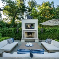 Patio With TV and Fireplace