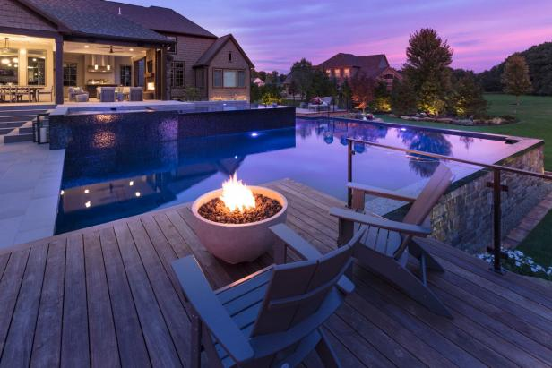 Deck With Fire Bowl