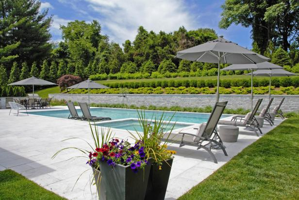 Pool and Formal Garden