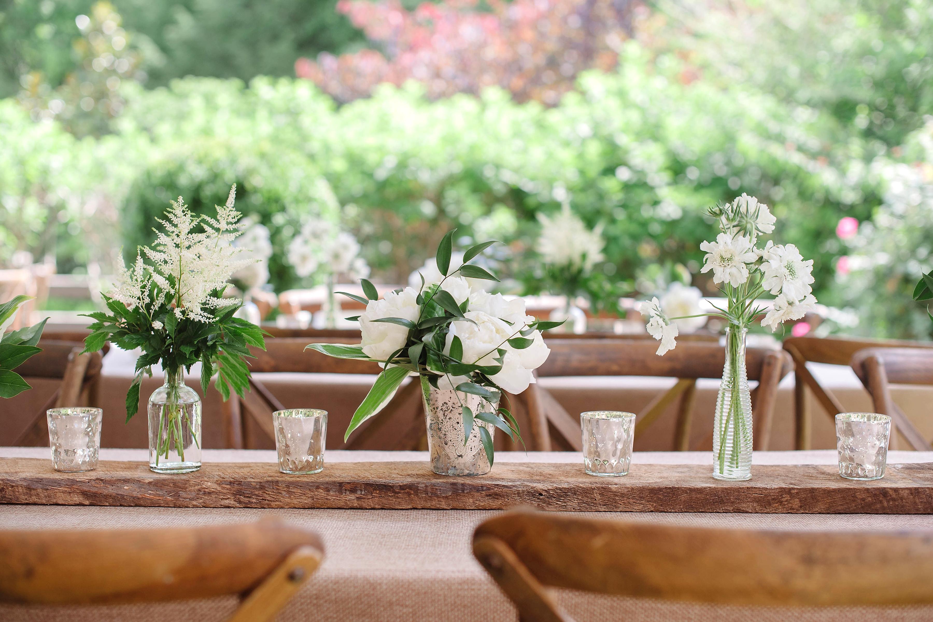 3 X Metal Copper Gold Candle Pot Citronella Wedding Outdoor Centrepiece Garden
