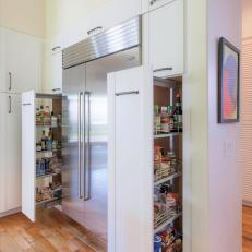 Kitchen With Pull-Out Pantry Shelves