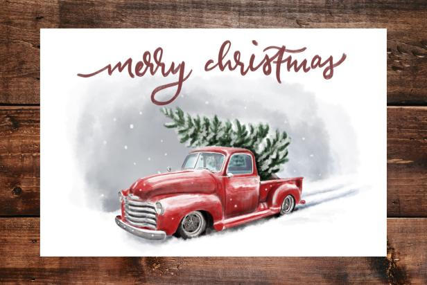 Free Printable Country Christmas Cards