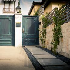 Entryway With Southern France Curb Appeal