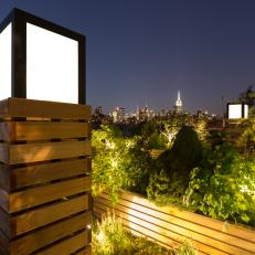 Urban Roof Deck With Skyline View