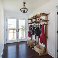 Foyer With Coat Rack