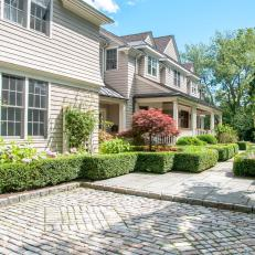 Driveway With Patterned Stone Courtyard