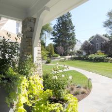 Front Entrance View Of Landscaped Yard