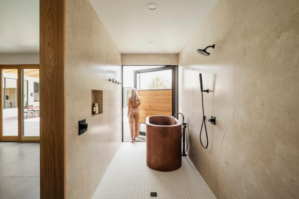 Modern Shower and Tub