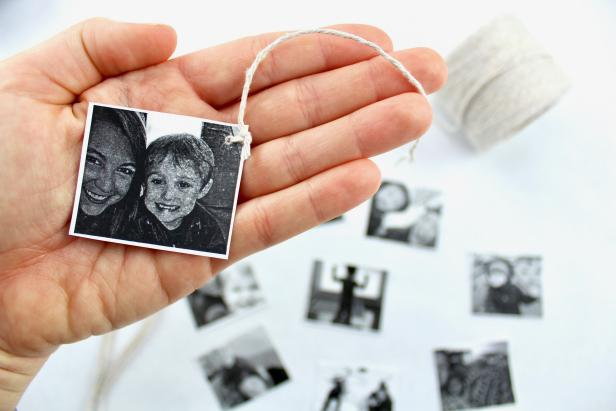 Print out Mom's favorite photos, and add to DIY tea bags for an easy, personal gift for Mother's Day.
