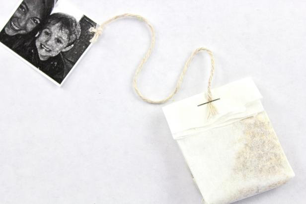 A DIY tea bag featuring Mom's favorite photos is the perfect gift for Mother's Day.