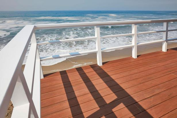 Stained Brown Wooden Deck