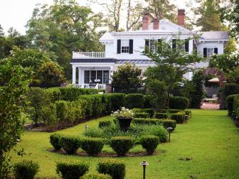 Historic Home With A Formal Backyard Garden